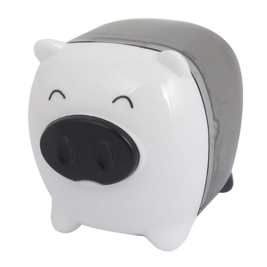 White Pig Design Plastic Housing Pencil Sharpener Tool for Students