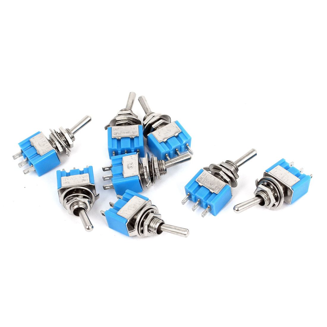 8 Pcs AC 125V 6A Latching 3 Pin SPDT 2 Position ON-OFF Toggle Switch