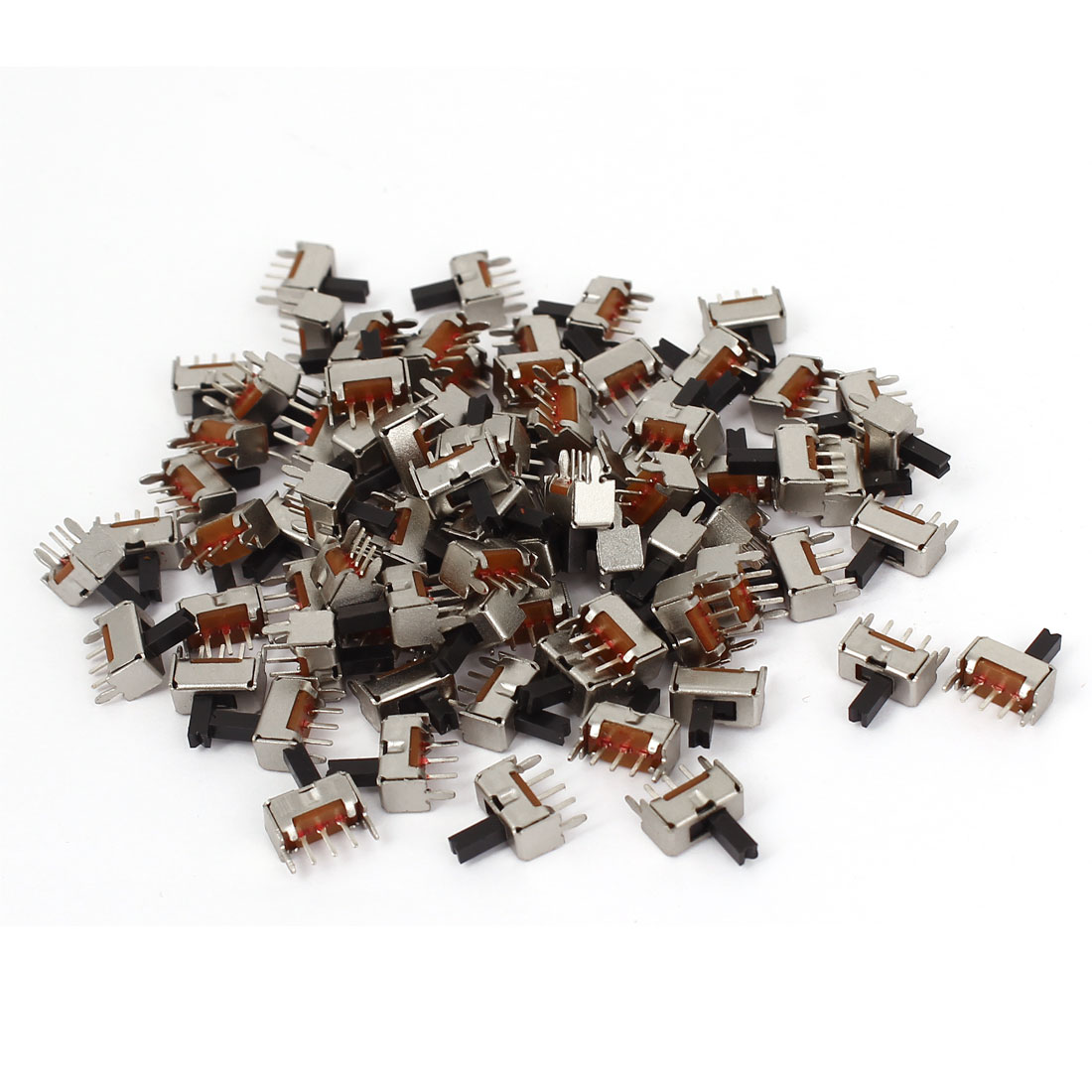 80pcs ON/OFF 1P2T 3-Terminals DIP Through Hole Horizontal Slide Power Switch