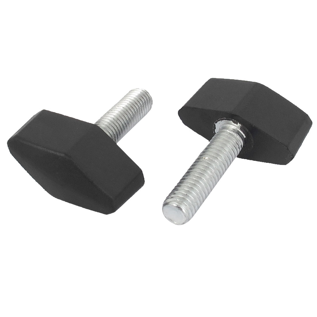 2pcs 6mm x 30mm Male Thread Plastic T Handle Screw On Type Clamping Knob