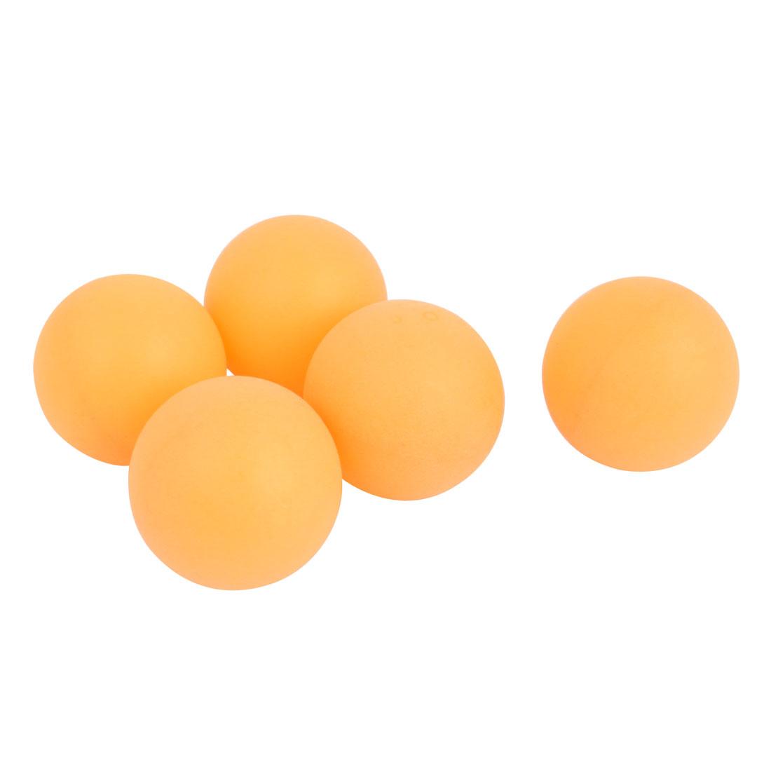 5 Pcs 40mm Diameter Table Tennis Sport Balls Ping Pong Orange