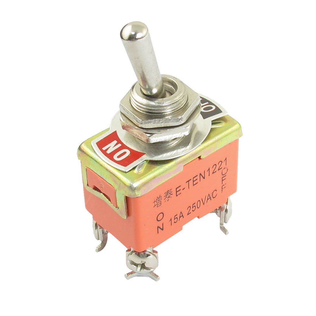 AC 250V 15A 4 Screw Terminals ON/OFF 2 Position DPST Latching Toggle Switch Controller