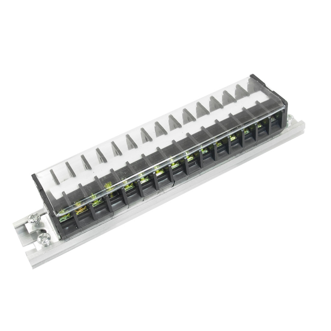 660V 15A 30 Positions Double Rows Covered 30 Screw Barrier Terminal Block Wire Connector