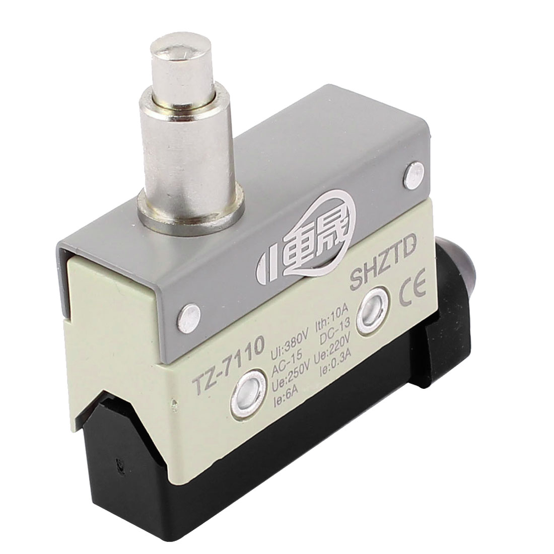 TZ-7110 AC 380V 10A SPDT 1NO+1NC Snap Action Plunger Limit Switch