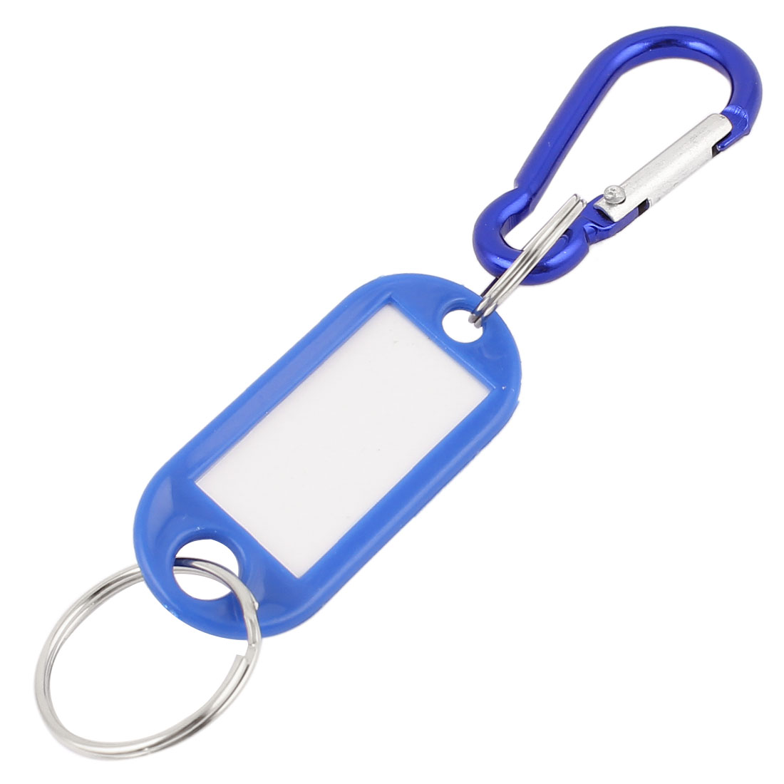 Name ID Tags Label Luggage Suitcase Bag Key Ring Carabiner Hook Blue