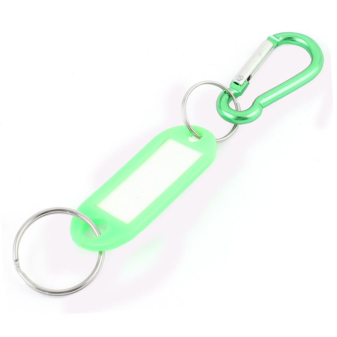 Name ID Tags Label Luggage Suitcase Bag Key Ring Carabiner Hook Green