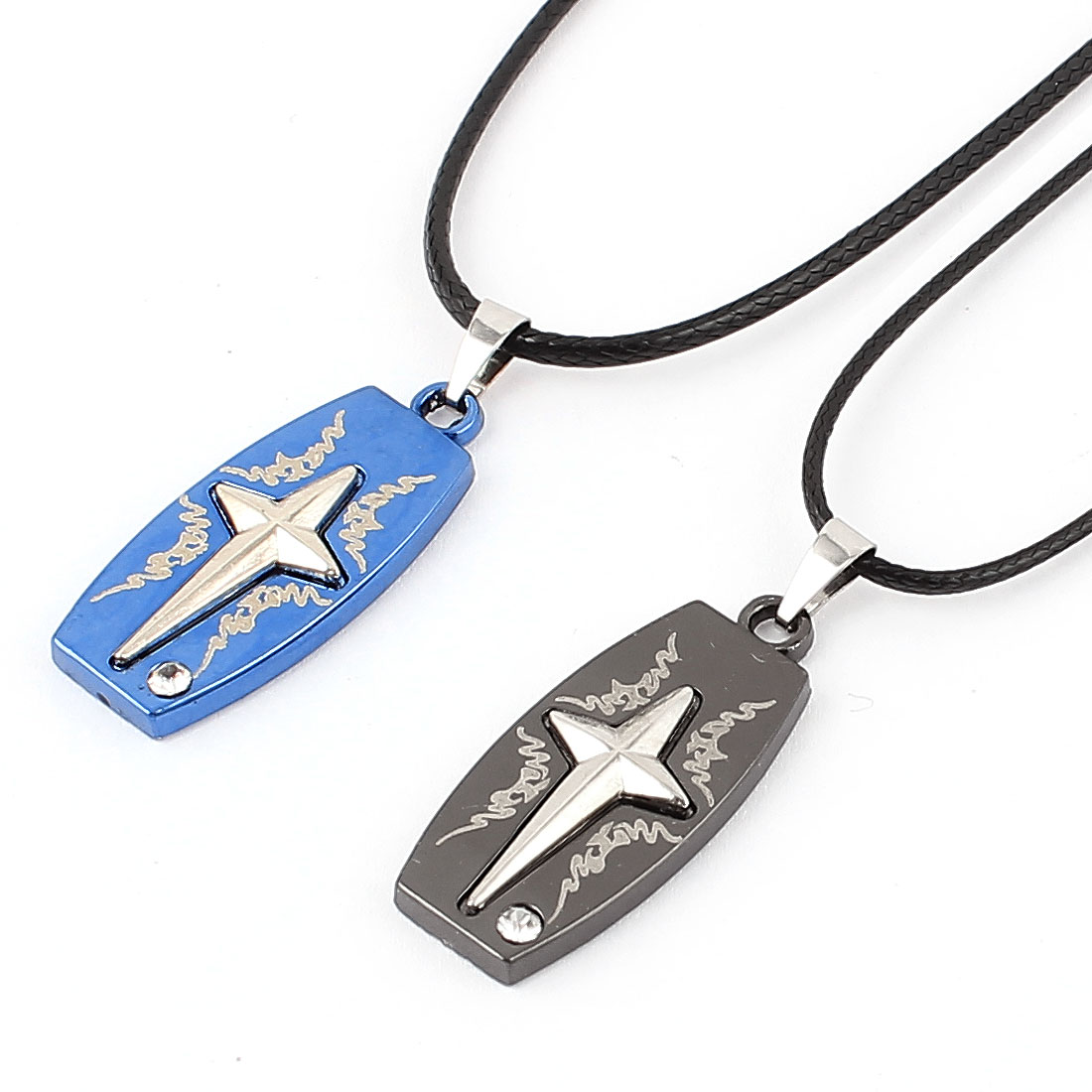 Men Women Lover Couple Pendant Chain Necklace Choker Gift 2pcs