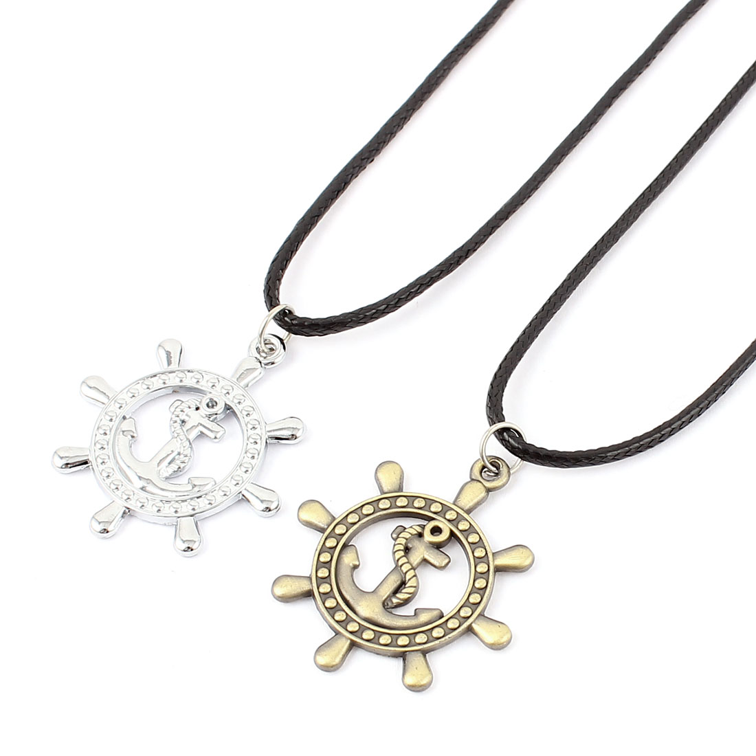 Couple Lovers Matching Set Pendant Necklaces Chain Jewelry 2pcs