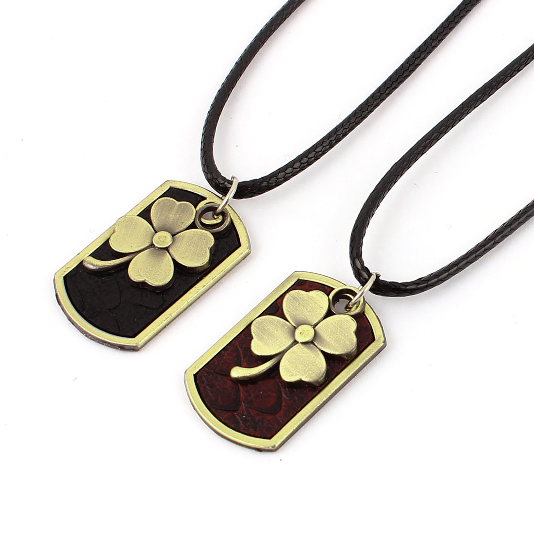 Women Men Lover Couple Metal Pendant Chain Cord Necklace Jewlery Gift 2pcs