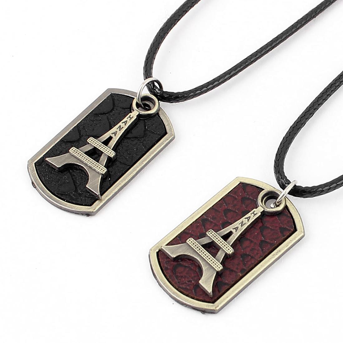 Men Women Couple Corded Metal Pendant Necklace Choker Jewelry Gift