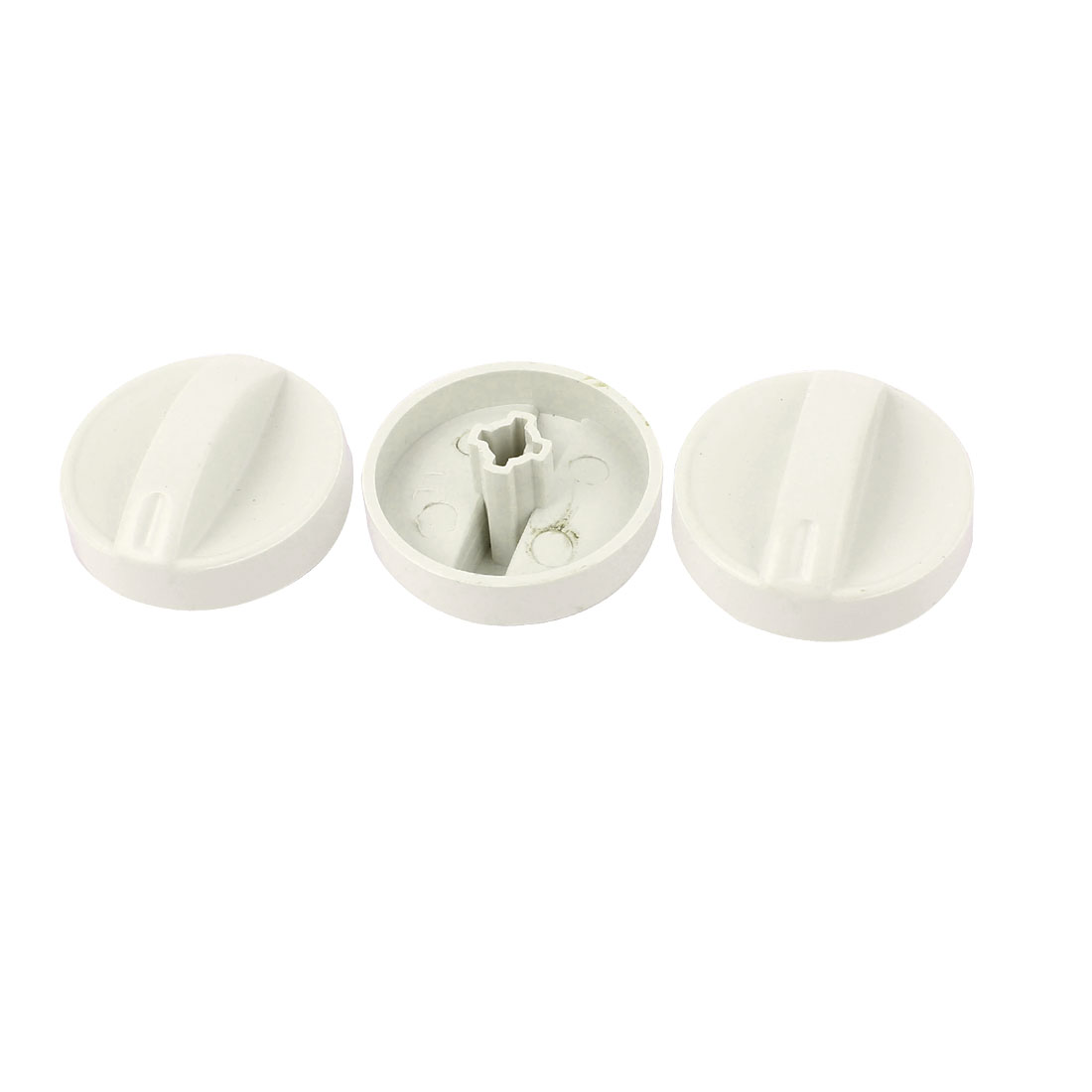 Hard Plastic 6mm Inner Dia Cross Slot Washing Machine Timer Turning Knob 3pcs