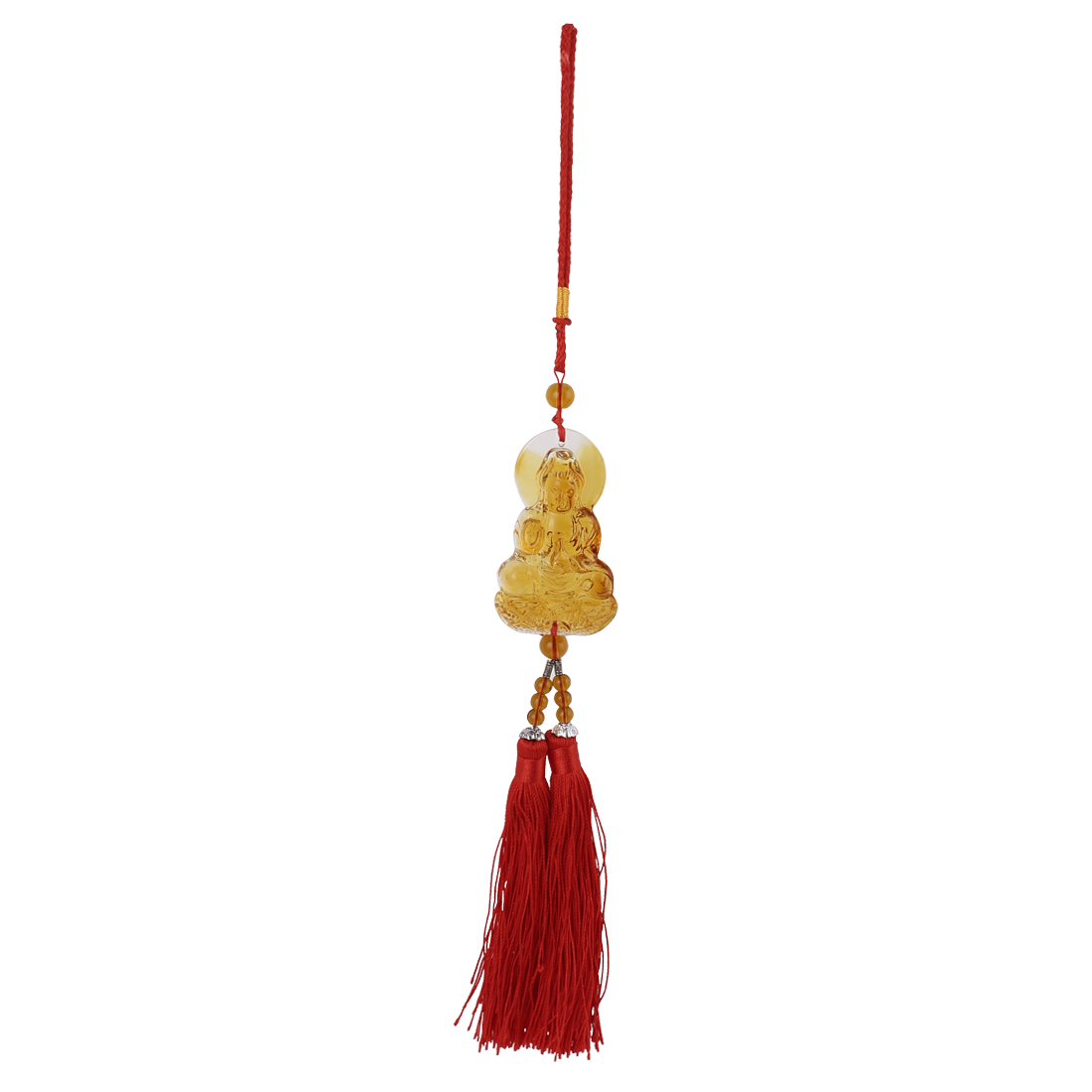 Chinese Traditional Auto Car Hanging Ornaments Tassel Pendant Decoration Amber
