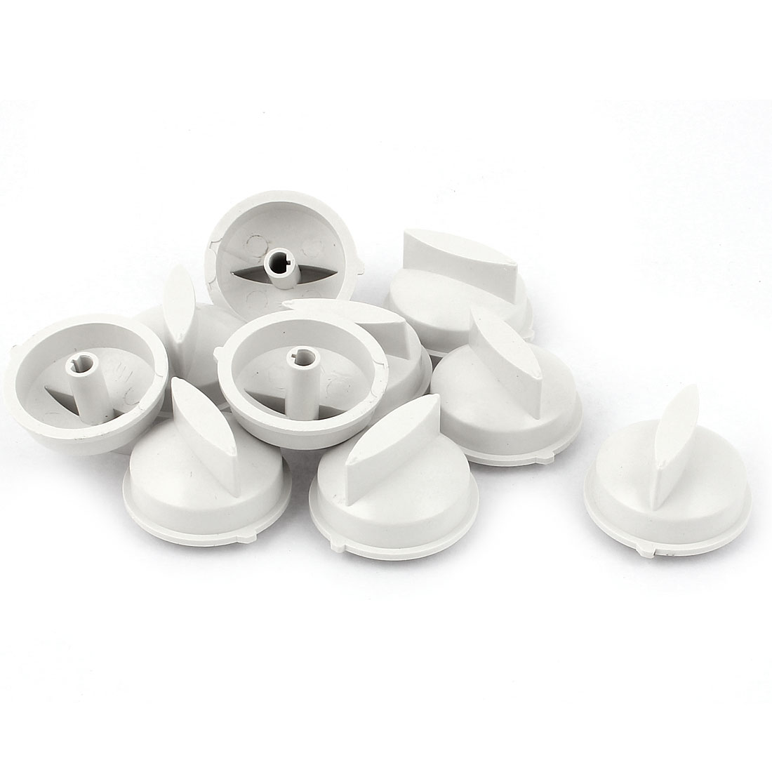 10pcs 6mm Inner Diameter Washer Dryer Washing Machine Turning Timer Knob White