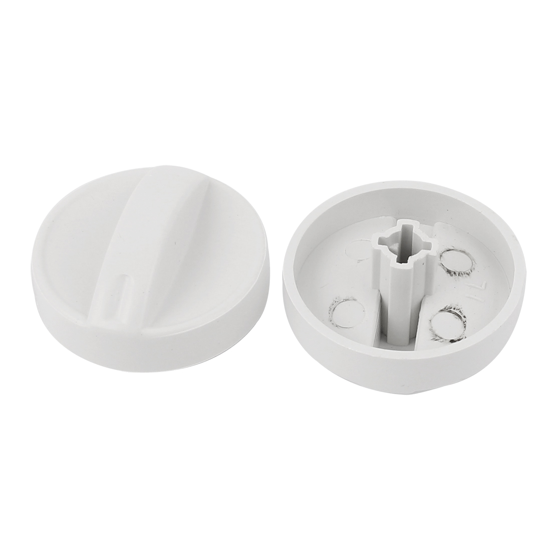 Hard Plastic 7mm Inner Dia Cross Slot Washing Machine Timer Turning Knob 2pcs