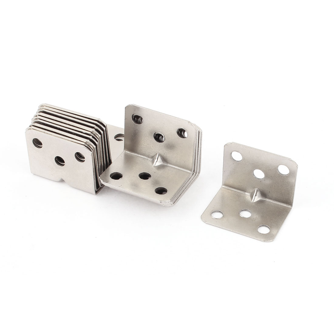 Shelf Support Brace 36x27x27mm 6 Holes Metal Angle Brackets 20pcs