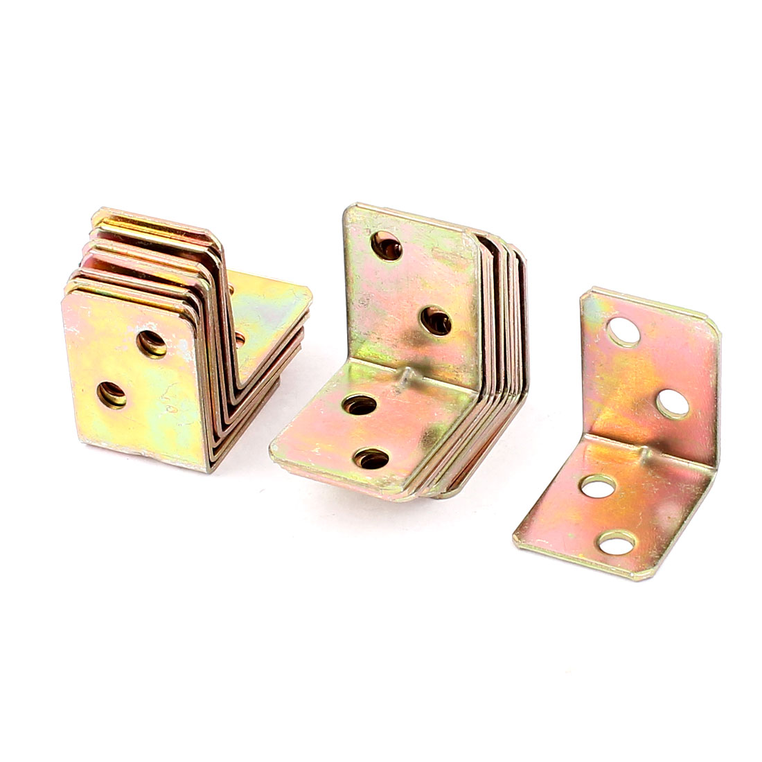 Shelf Support Brace Fastener Plating 4 Holes Metal Angle Brackets 18pcs