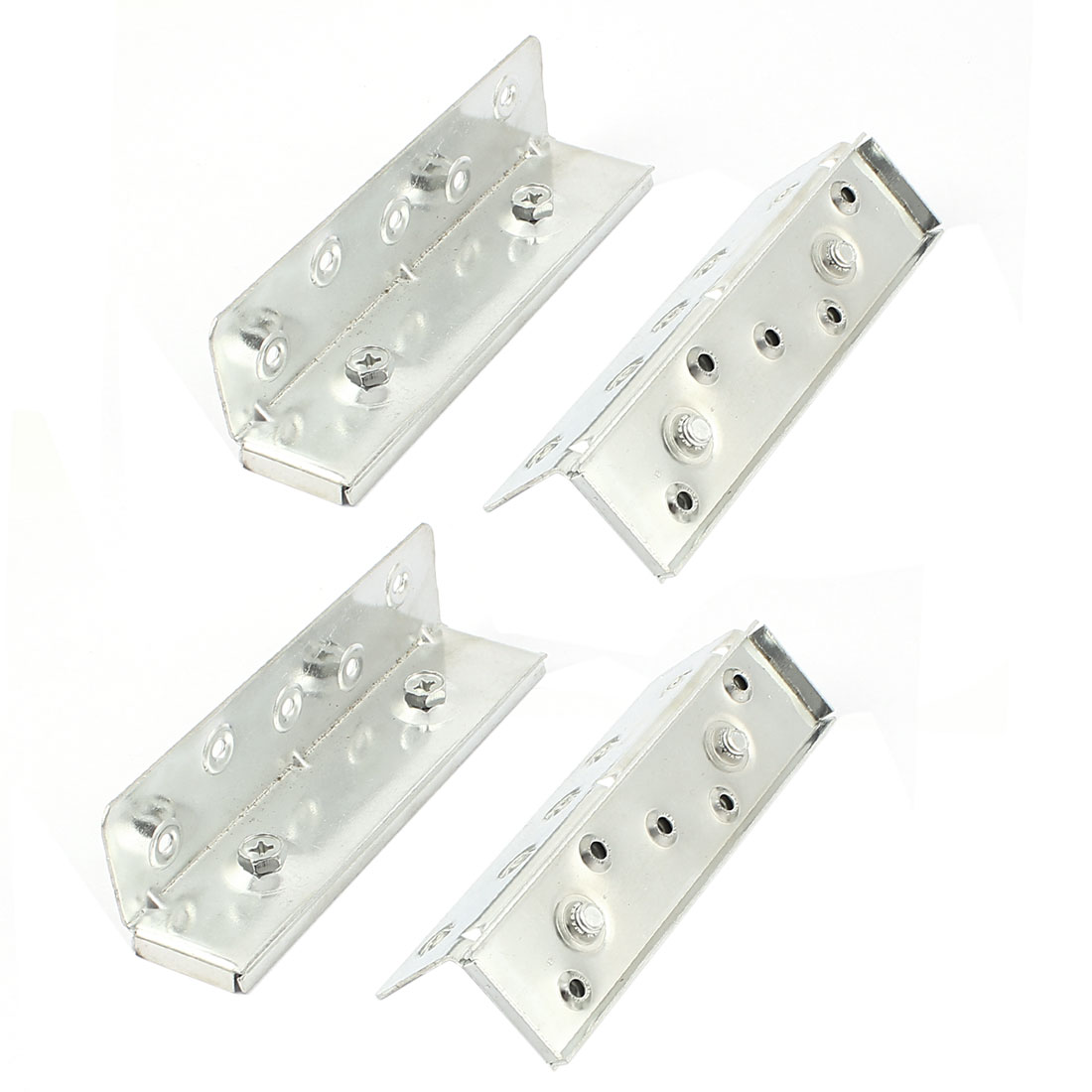 Bed Connecting Brackets Fitting 155mm Length Silver Tone 4pcs