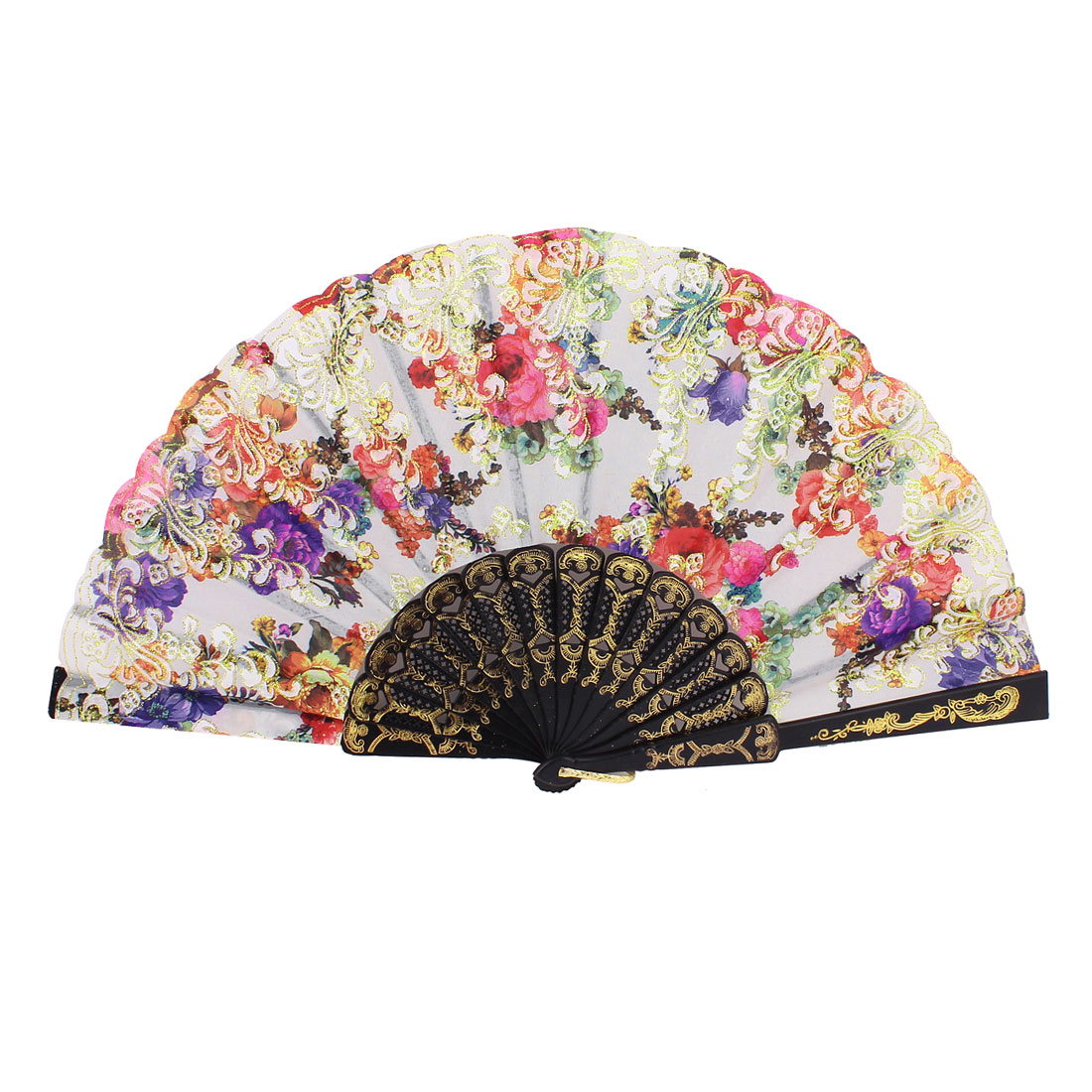 Plastic Floral Folding Foldable Hand Fan Dancing Wedding Party Gift