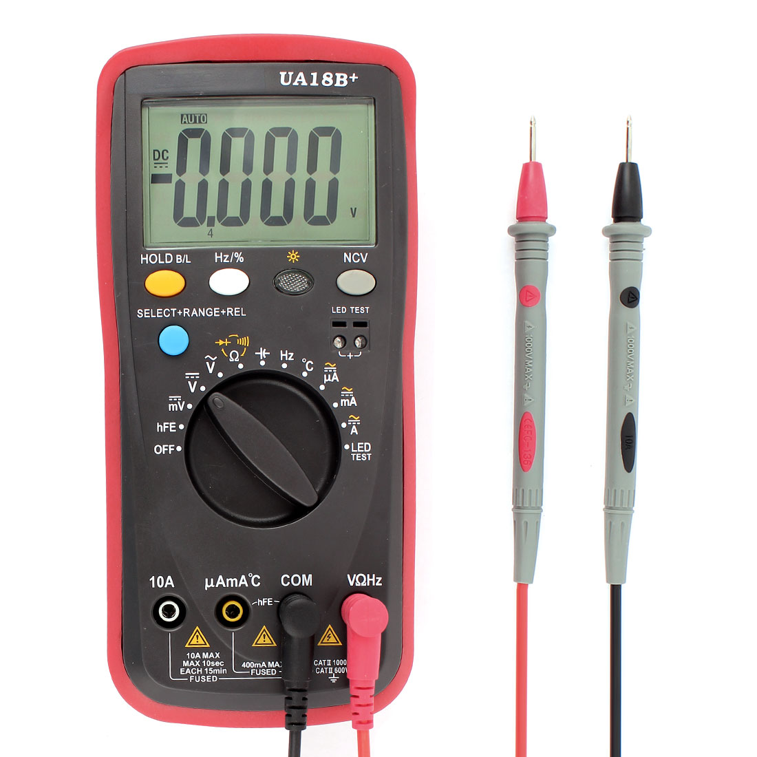 AC/DC LCD Tester Meter Voltmeter Ohmmeter Ammeter Temp Digital Multimeter