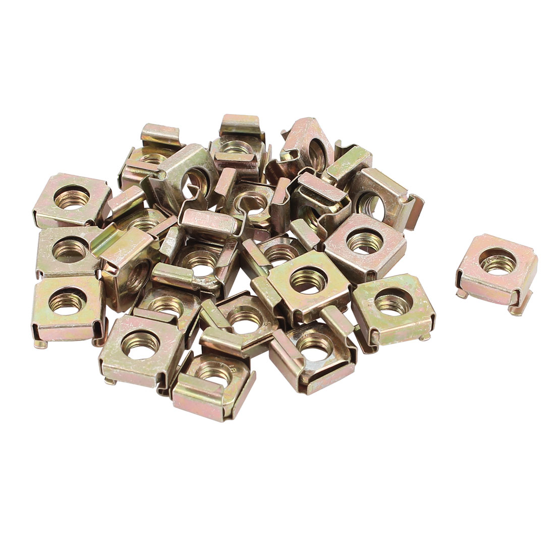 6mm Thread Dia Server Shelves Cabinets Zinc Plated Cage Nuts Screws 25Pcs