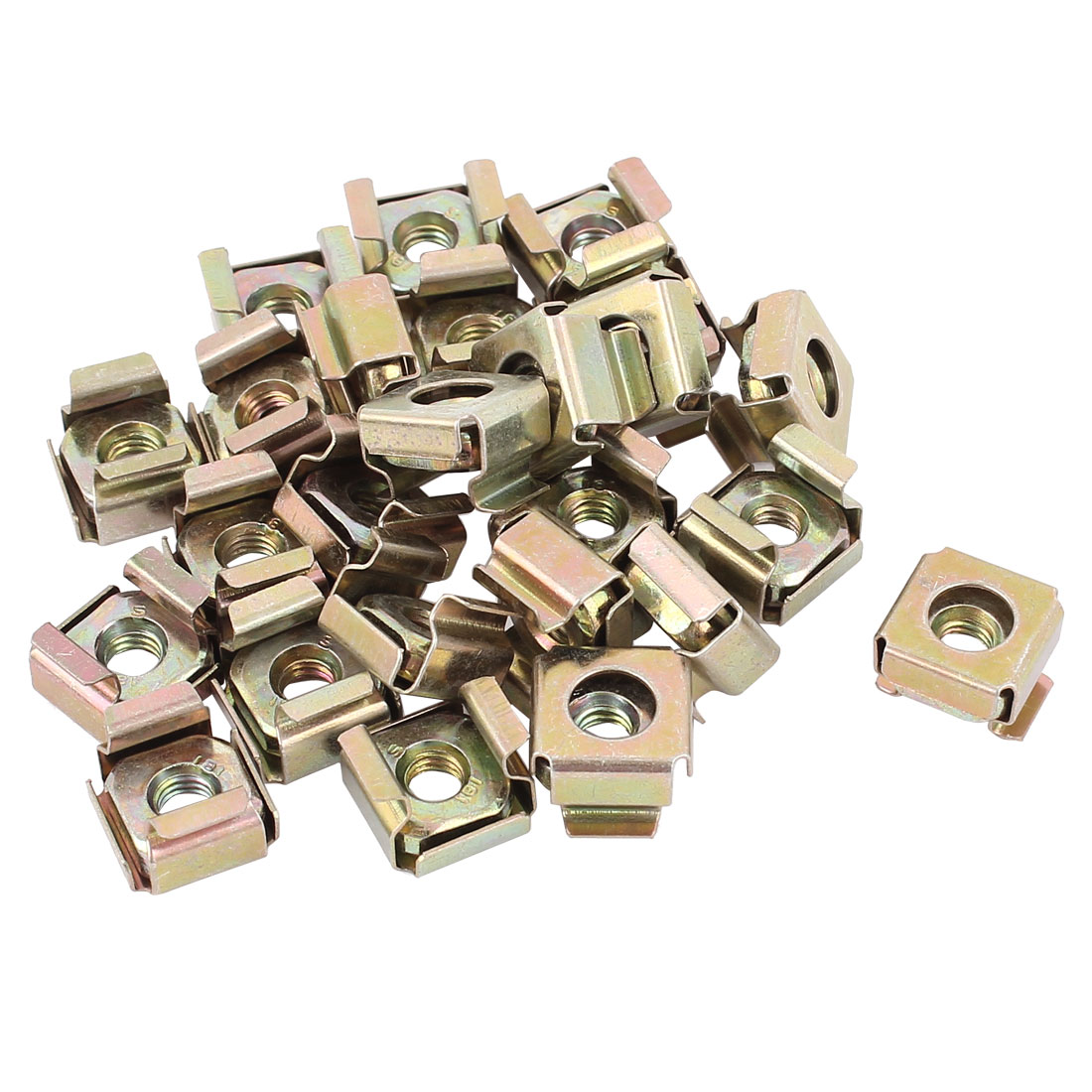 5mm Thread Dia Server Shelves Cabinets Zinc Plated Cage Nuts Screws 25Pcs