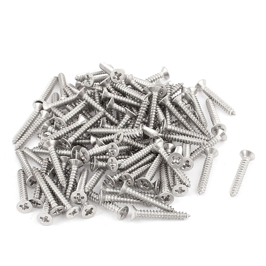 M3x20mm Phillips Flat Head Stainless Steel Self Tapping Screws Fastener 100Pcs