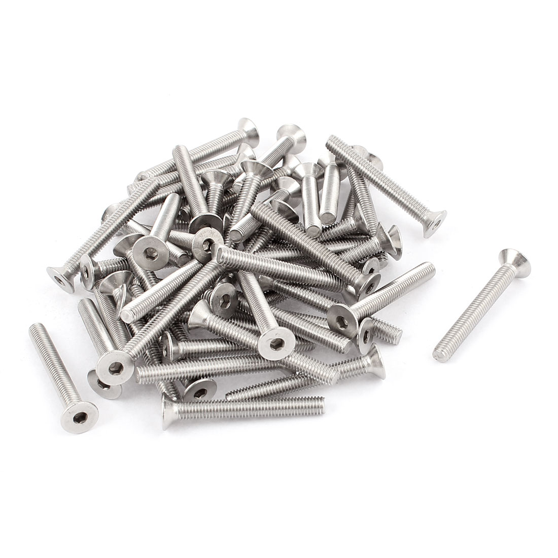 M5x40mm Stainless Steel Hex Socket Flat Head Countersunk Bolts Screw 50Pcs