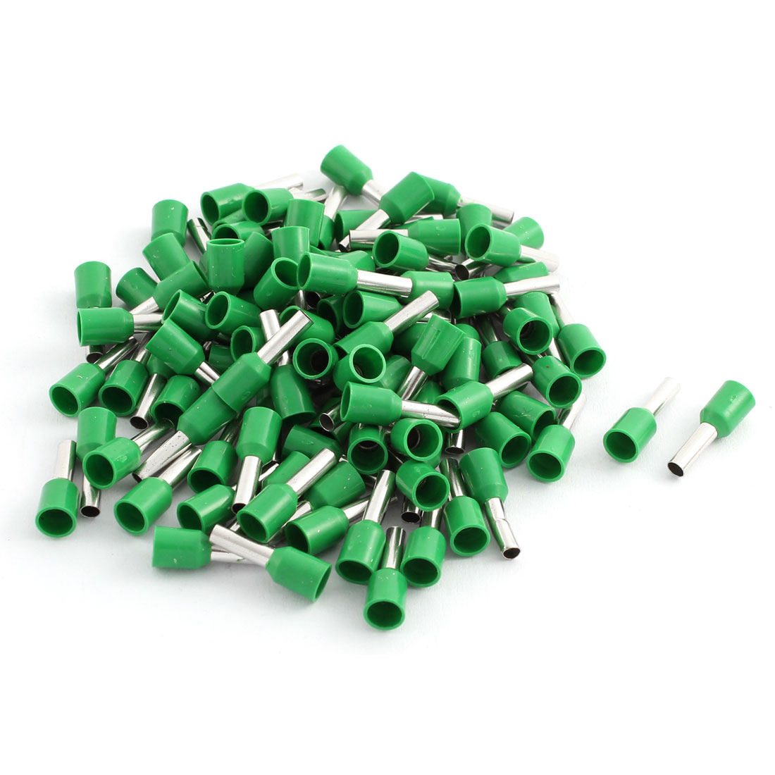 100 Pcs 2.5mm2 Crimp Wire End Terminal Insulated Bootlace Ferrule Connector Green