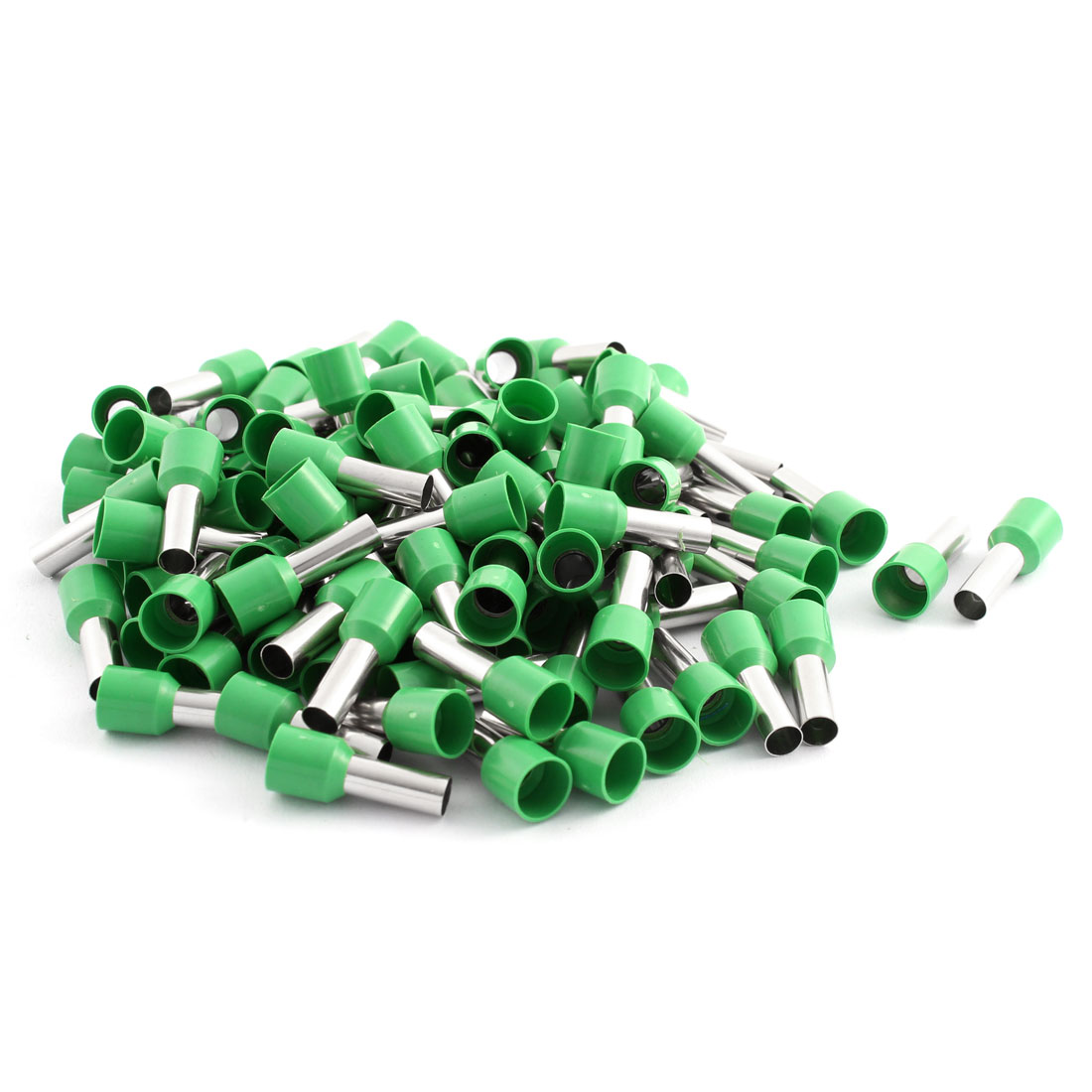 100 Pcs 10mm2 Crimp Wire End Terminal Insulated Bootlace Ferrule Connector Green