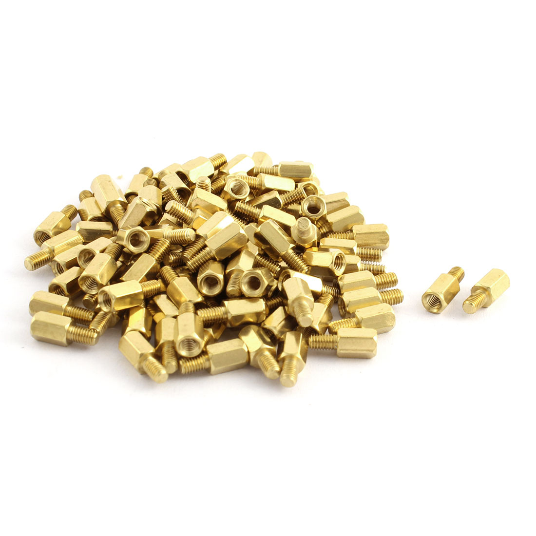 100 Pcs PC PCB Motherboard Brass Standoff Hexagonal Spacer M3 3+5mm