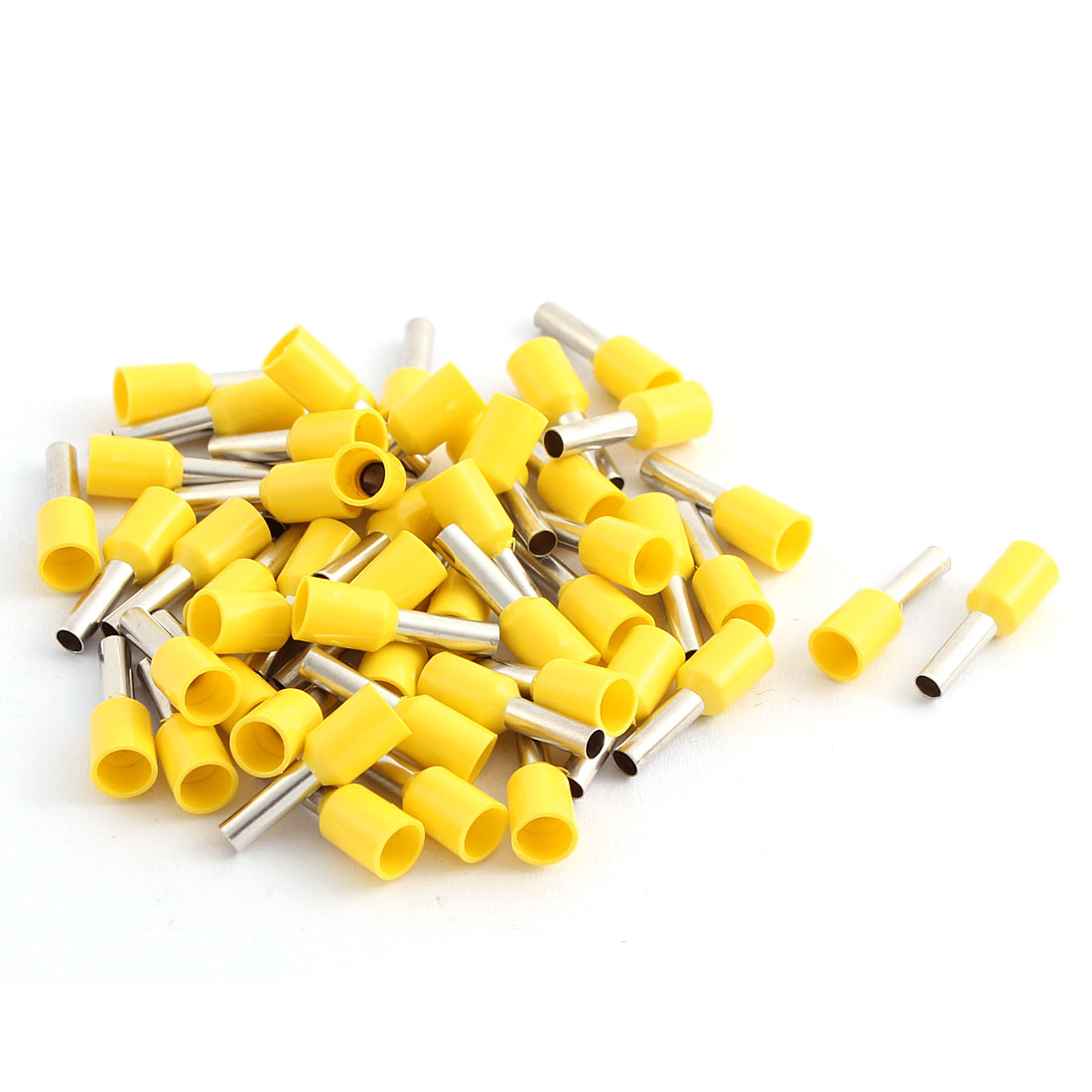 50 Pcs 2.5mm2 Crimp Wire End Terminal Insulated Bootlace Ferrule Connector Yellow