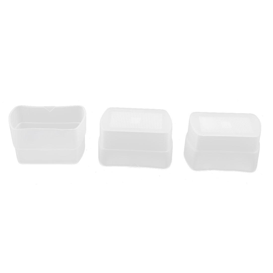 3pcs White Plastic Camera Flashlight Photoflash Flash Bounce Diffuser Cover Cap Box Softbox for Canon EX430
