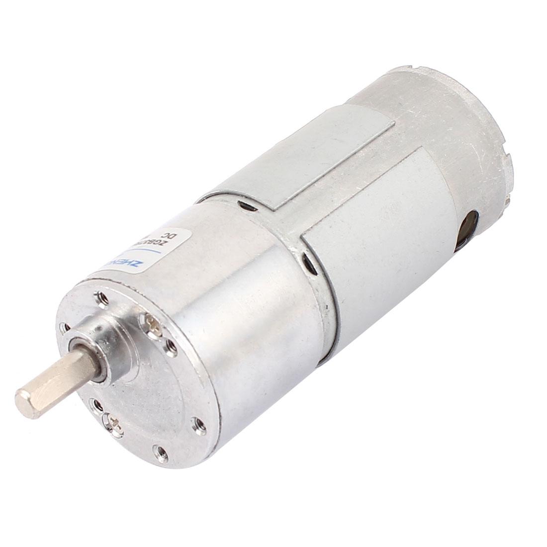 12V 45RPM High Torque 2 Terminal 6mm Dia D Shape Shaft Reducer Micro DC Geared Gear Box Electric Motor