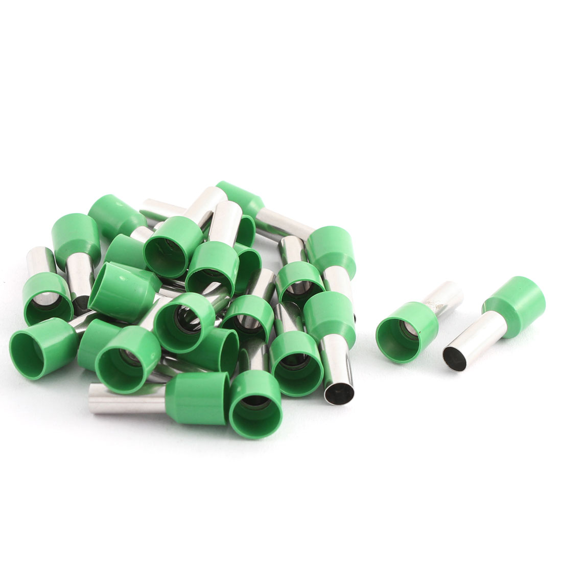 25 Pcs 10mm2 Crimp Wire End Terminal Insulated Bootlace Ferrule Connector Green