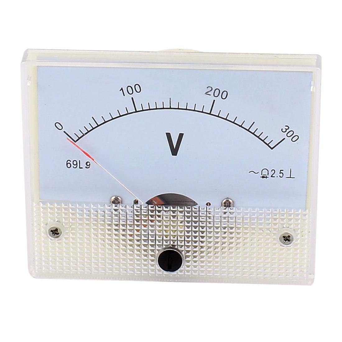 AC 0-300V Analog Panel Volt Voltage Meter Voltmeter Gauge
