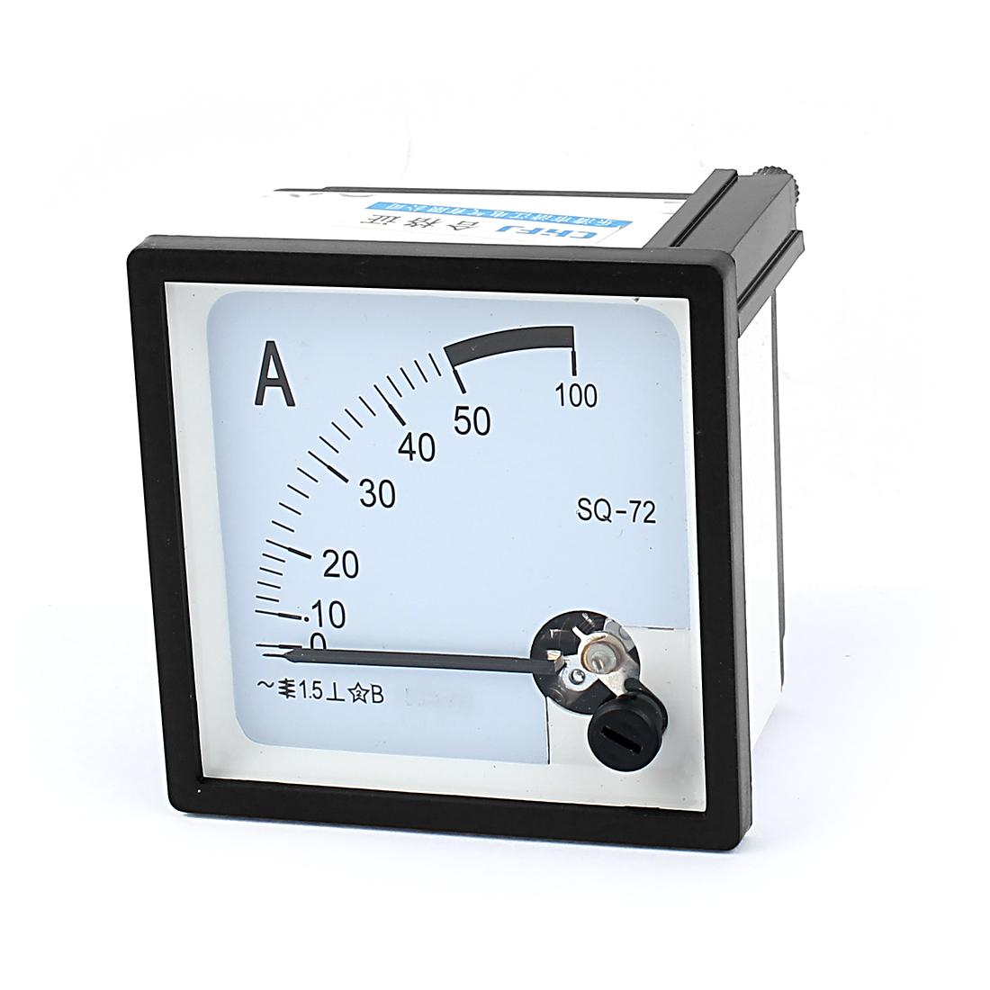 AC 0-50A Analog Ammeter Analogue Panel Ampmeter Current Meter Gauge