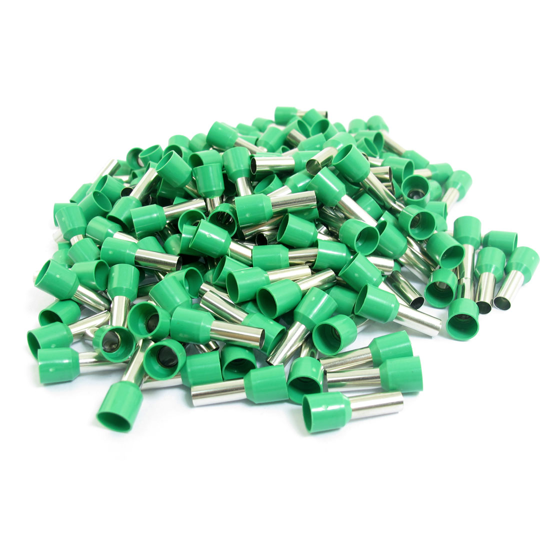 200pcs E1012 8AWG Green Plastic Tube Tublar Style Wire Crimp Insulated Cord End Terminal Connector