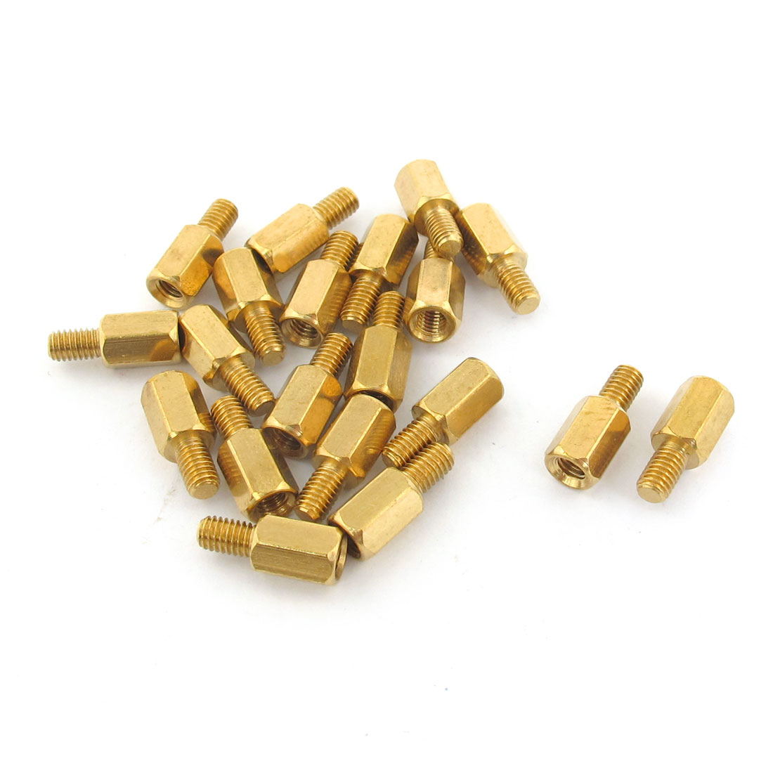 20pcs M3 Male to Female 7mm+5mm Screw Threaded Brass Hexagon Standoff Spacer for PCB Motherboard