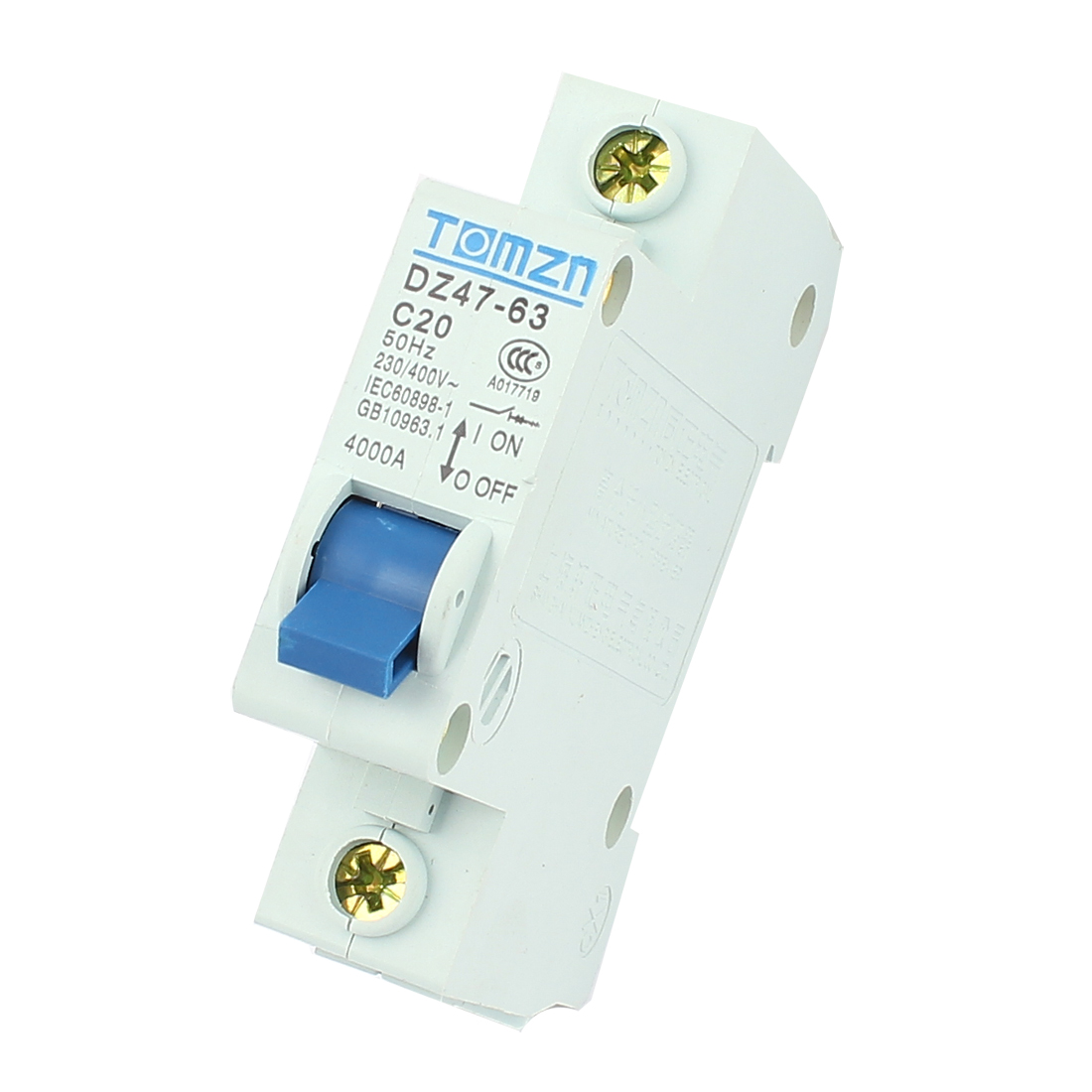 AC 230/400 20A 4000A 50Hz Single Pole ON/OFF Safety Switch Miniature Circuit Breaker
