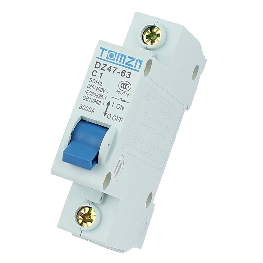 AC 230/400 1A 3000A Breaking Capacity 50Hz 1P ON/OFF Safety Switch Miniature Circuit Breaker