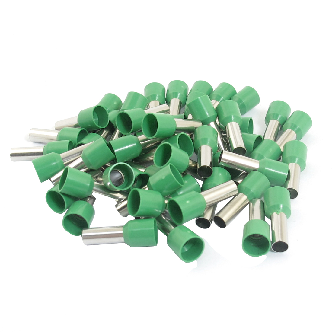 50pcs E1012 8AWG Green Plastic Tube Tublar Style Insulated Cord Ends Terminal Connector