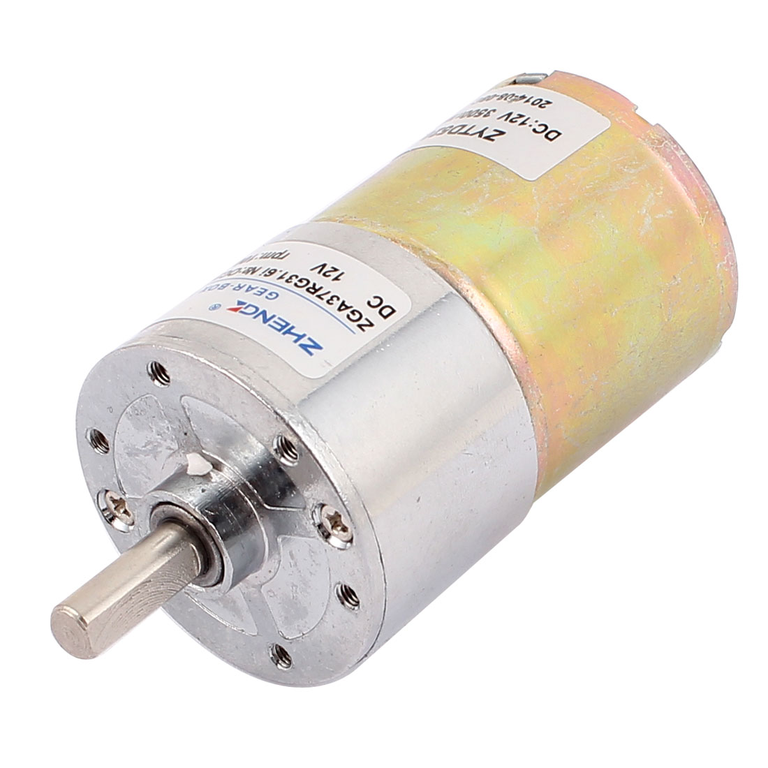 12V 100RPM High Torque 6mm Dia D Shape Shaft Cylindrical Reducer Micro DC Geared Gear Box Electric Motor
