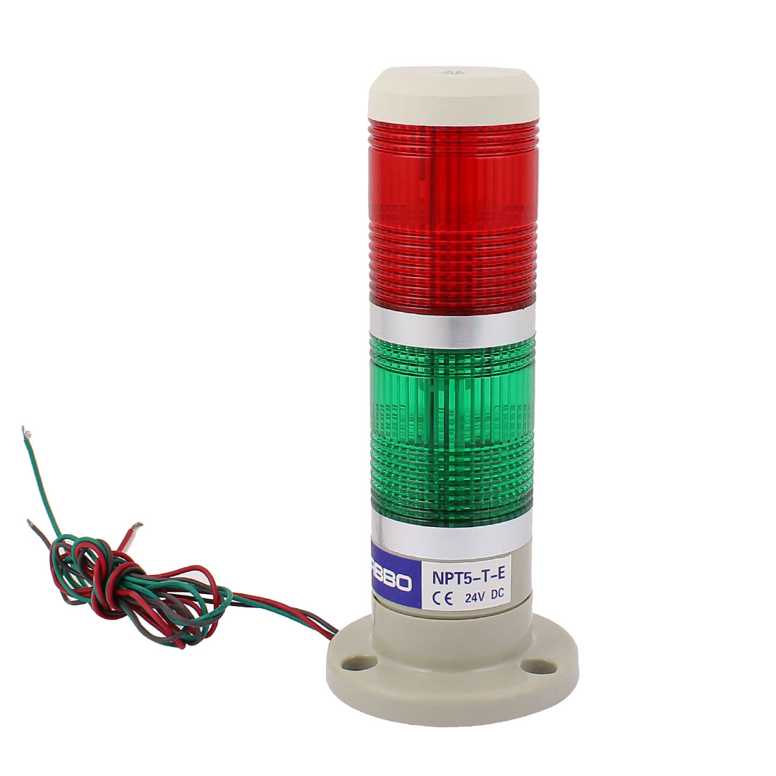 NPT5-T-E DC 24V Red Green Plastic Shell LED Flash Industrial Safety Alarm Lamp Warning Signal Light