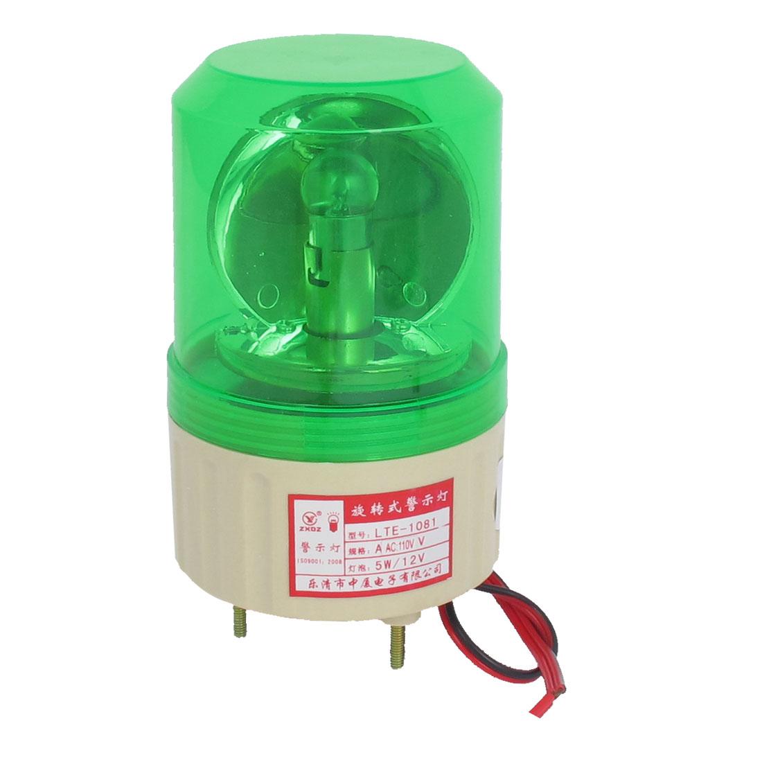 AC 110V Industrial Alarm System Rotating Warning Light Lamp Green