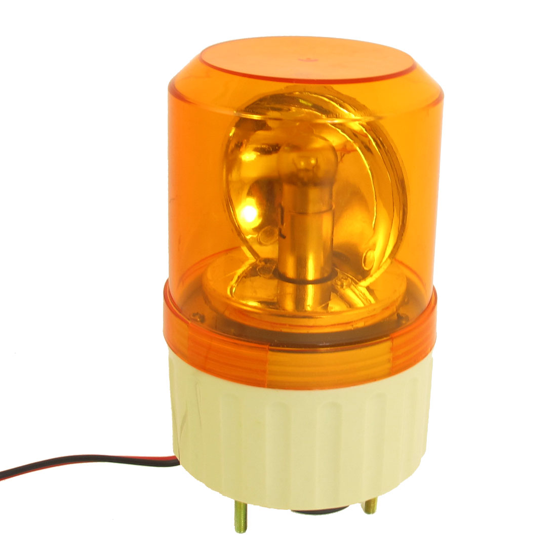 DC 12V Buzzer Sound Rotating Industrial Signal Warning Lamp Orange