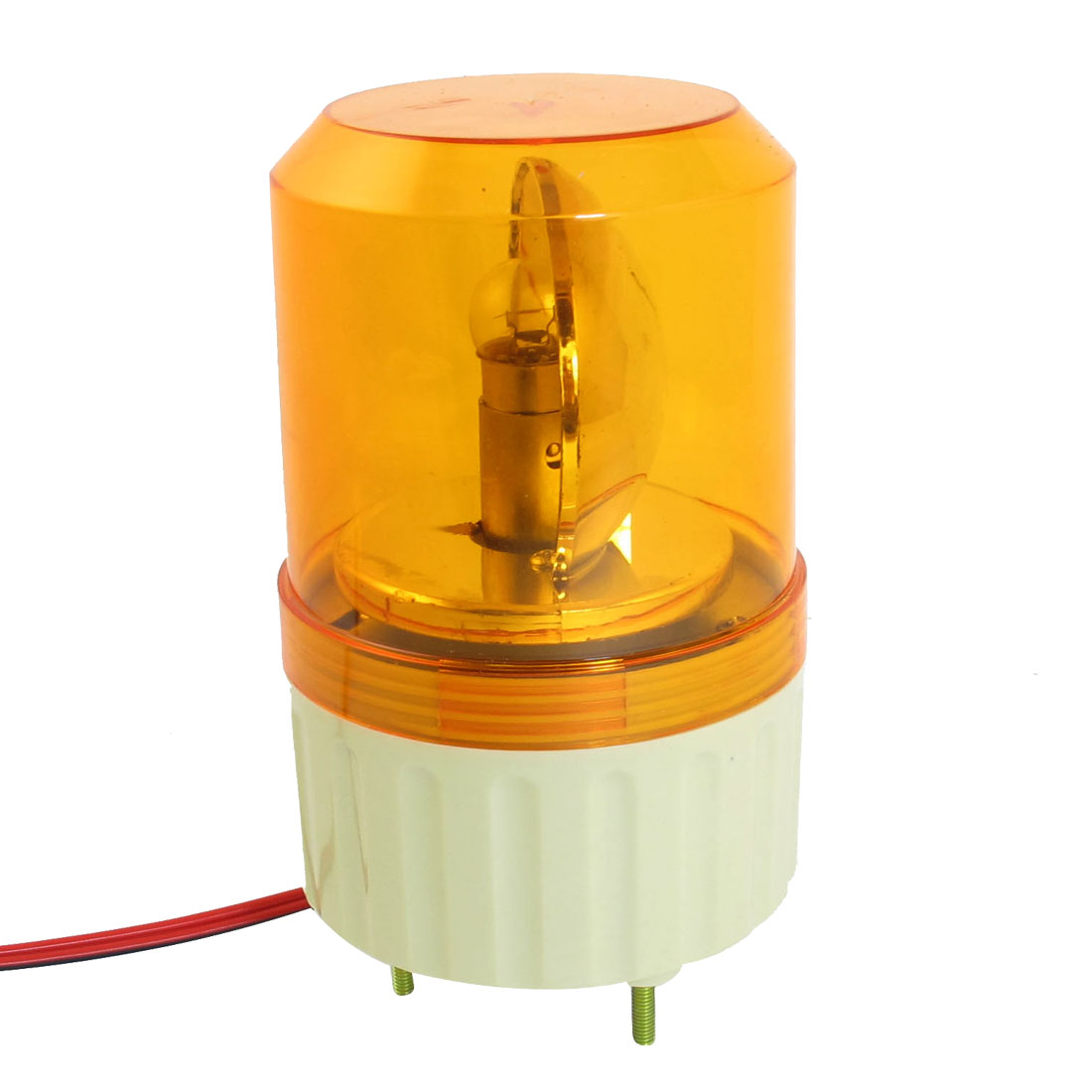 DC 24V Industrial Alarm System Rotating Warning Light Lamp Orange
