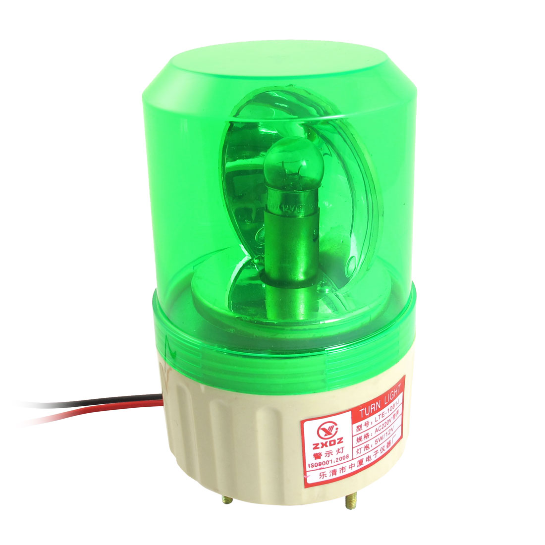AC 220V Buzzer Sound Rotating Industrial Signal Warning Lamp Green