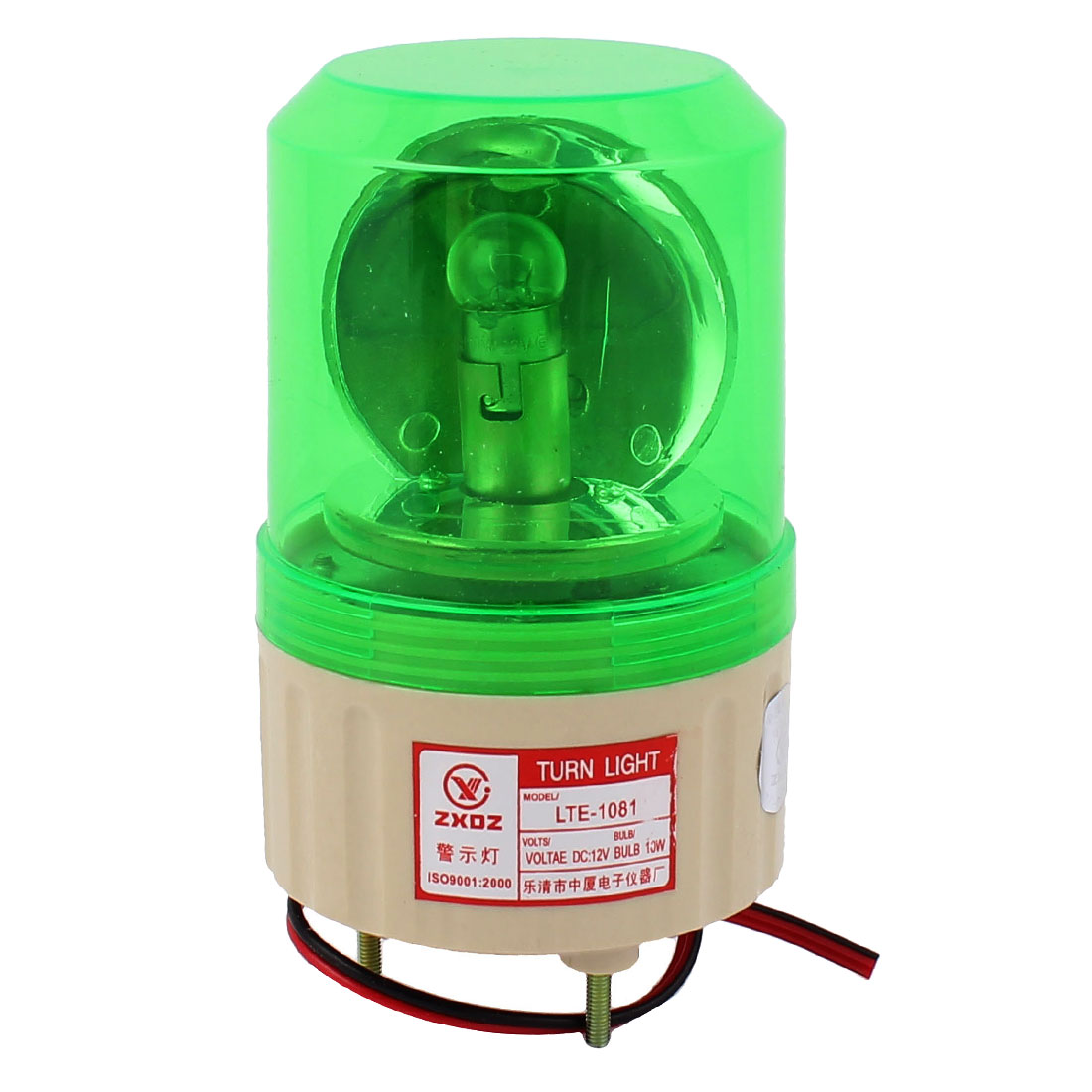 DC 12V Industrial Alarm System Rotating Warning Light Lamp Green