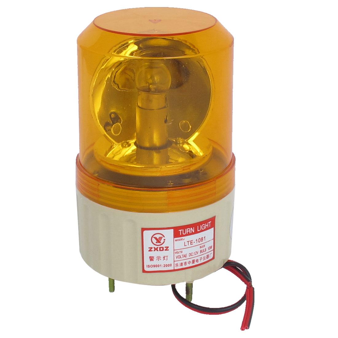 DC 12V Industrial Alarm System Rotating Warning Light Lamp Orange