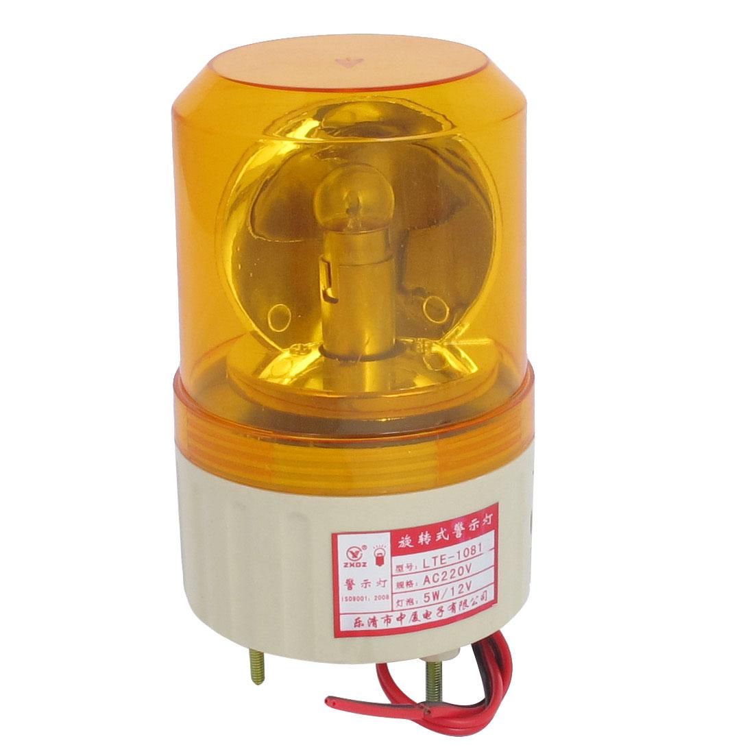 AC 220V Industrial Alarm System Rotating Warning Light Lamp Orange